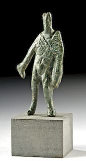 Miniature Roman Bronze Statuette of Mercury