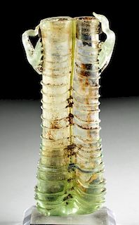 Beautiful Roman Glass Double Unguent w/ Trailing