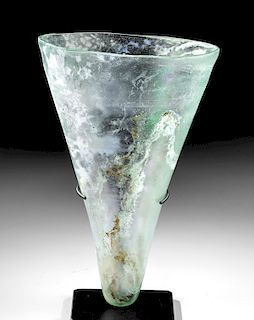 Impressive Roman Glass Oil Lamp, Gorgeous Iridescence