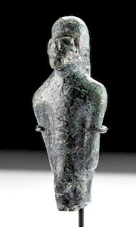 Ancient Iberian Bronze Standing Nude Male Figure