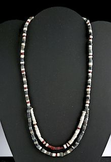 Sumerian Faience & Stone Beaded Necklace