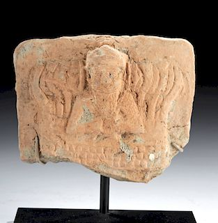 Mesopotamian Terracotta Plaque w/ Image of Martu