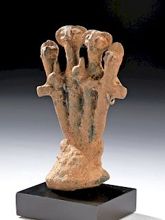 Anatolian Syro-Hittite Copper Abstract Idol w/ Figures