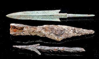 Luristan / Roman / Viking Spear Tips, Bronze and Iron