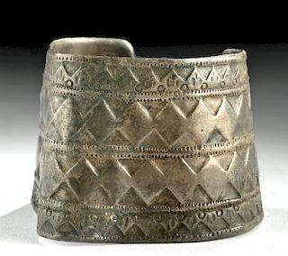 Ancient Persian / Parthian Silver Cuff Bracelet