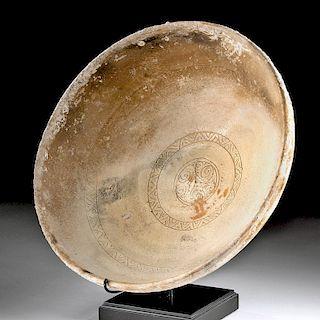 Byzantine Pottery Bowl w/ Sgraffito - Sea Find