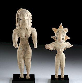 Indus Valley Pottery Female Venus Figures (pr)