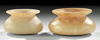Fine Bactrian Carved Alabaster Jars (pair)