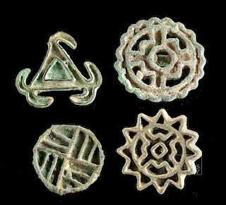 Bactrian / BMAC Bronze Stamps (Group of 4)