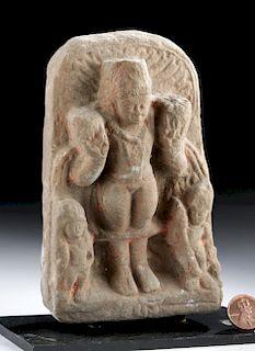 11th C. Indian Sandstone Relief Panel Hindu God Krishna