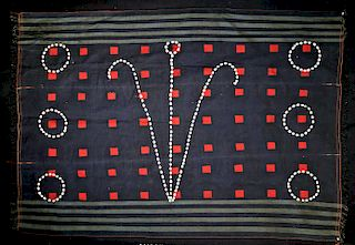 Early 20th C. Ceremonial Naga Mantle w/ Cowrie Shells