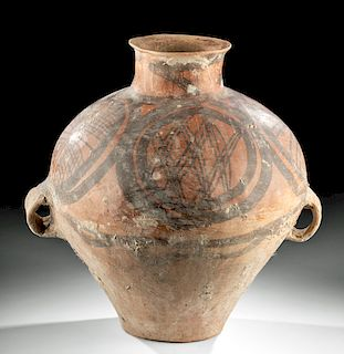 Large Neolithic Chinese Polychrome Vessel