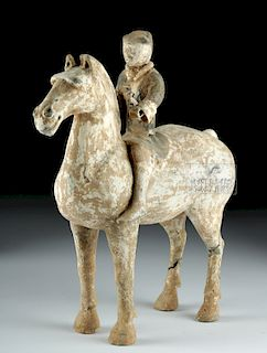 Chinese Han Dynasty Pottery Horse / Rider  - TL Tested