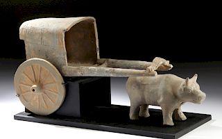 Chinese Han Dynasty Terracotta Ox Cart