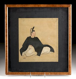18th C. Japanese Painting - 1 of 36 Immortals of Poetry