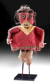 Chancay Textile, Wood, & Reed Wood Doll
