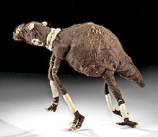 Chancay Fiber Sculpture of a Llama