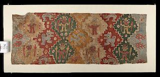 Gorgeous Chancay Painted Textile w/ Figures