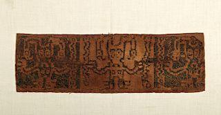Rare Chavin Textile Fragment - Staff God