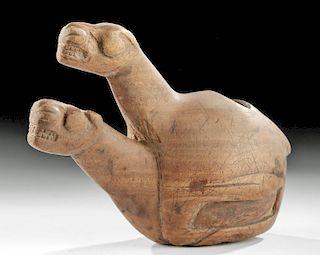 Rare Inca Wood Canopa - Mating Llamas
