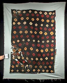 Large Nazca Polychrome Textile Mantle