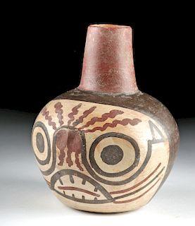 Nazca / Huari Polychrome Skull Vessel