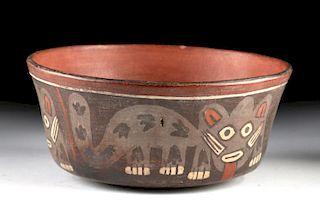 Nazca Polychrome Bowl w/ Jaguars