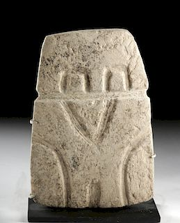 Valdivian Limestone Plaque - Highly Abstract Owl