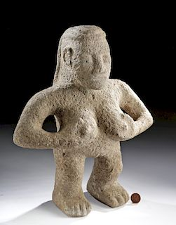 Costa Rican Volcanic Stone Standing Nude Female