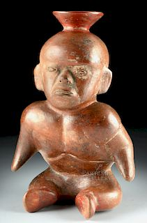 Colima Redware Seated Hunchback Dwarf, ex-Sotheby's