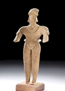 Tall Colima Pottery Standing Female Figure