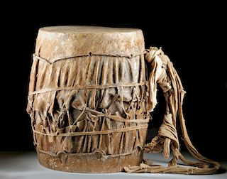Early 20th C African Senufo Firestarter Masquerade Drum