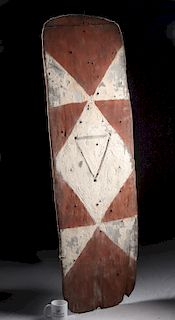 20th C. Papua New Guinea Maring Wooden Shield