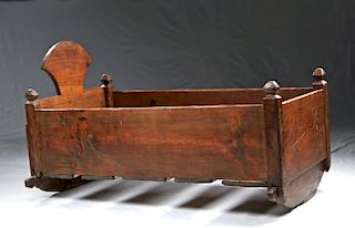 Late 19th C. American Wooden Crib