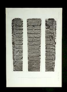 19th C. Alfred Maudslay B&W Maya Ruins Photogravure