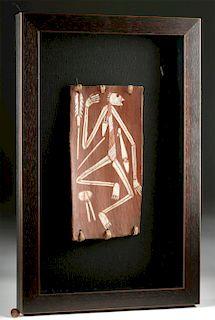 20th C. Nganjmirra Australian Aboriginal Bark Painting