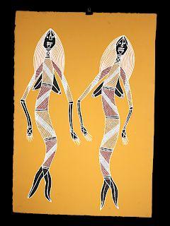 James Yulidjirri Painting - Likanaya & Marakai - 2001
