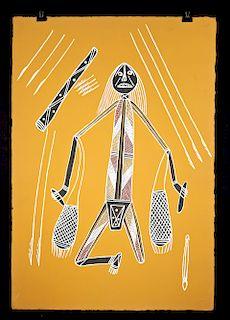 Simon Badari Painting - Hunter w/Dilly Bags - 2001