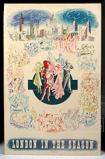 Goetz Original Lithograph - London in the Season, 1938