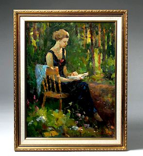 Framed 20th C. Impressionist Painting by Ivan Bukakin