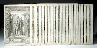 17th C. German Engravings by D.Custodis (set of 21)