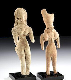 Lot of 2 Indus Valley Mehrgarh Pottery Figures