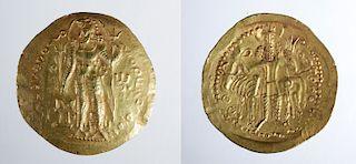 Sasanian / Kushan Vahram I Gold Dinar - 7.8 g