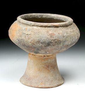 Ban Chiang Terracotta Pedestal Bowl