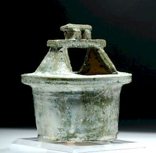 Chinese Han Dynasty Glazed Pottery Well Model