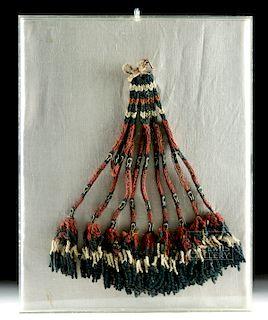 Framed Nazca Textile - Ornamental Tassel