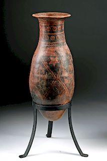 Narino Pottery Bullet Amphora w/ Geometric Motifs, TL'd