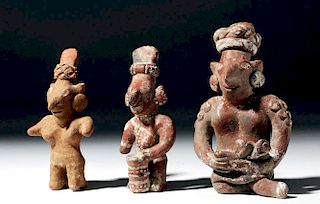 Lot of 3 Jalisco Sheepface Bichrome Figures