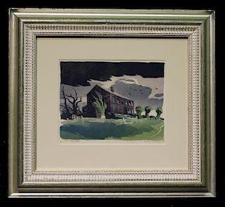 """Ernest William Watson (1884 - 1969) """"Deserted"""""""