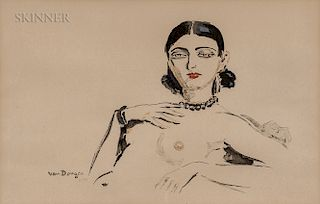 Kees van Dongen (Dutch/French, 1877-1968)  Odalisque
